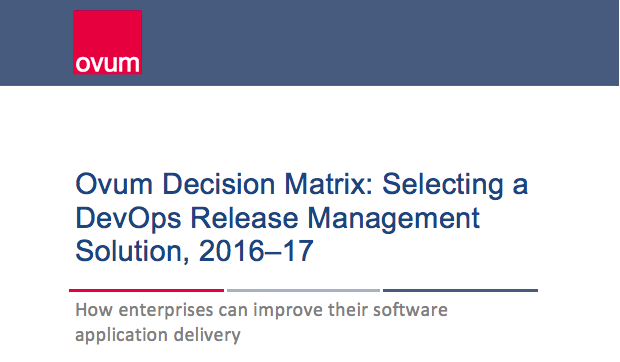 OVUM decision matrix - devops release management solution
