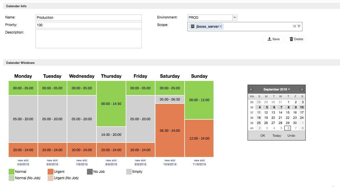 Calendar slots definition
