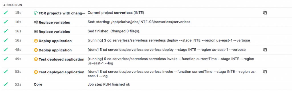 clarive serverless pipeline message decorator